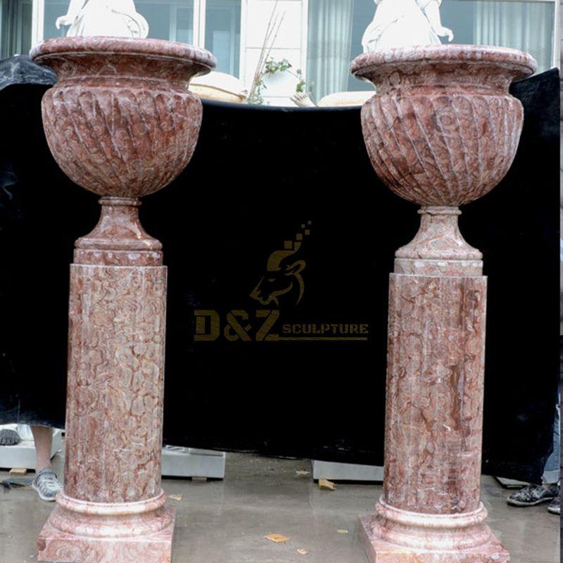 High Quality Garden Ornament Marble Planter Stone Flowerpot