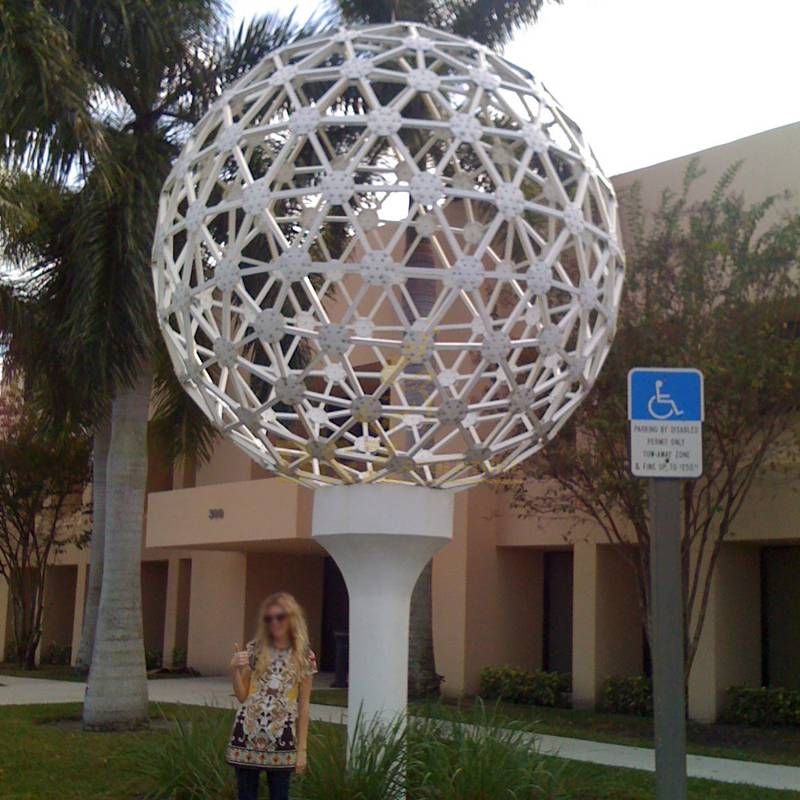 Stainless Steel Metal Ball Sculpture