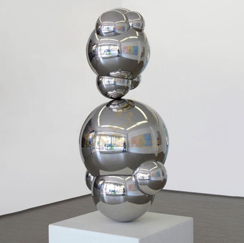 Custom stainless steel ball sculpture