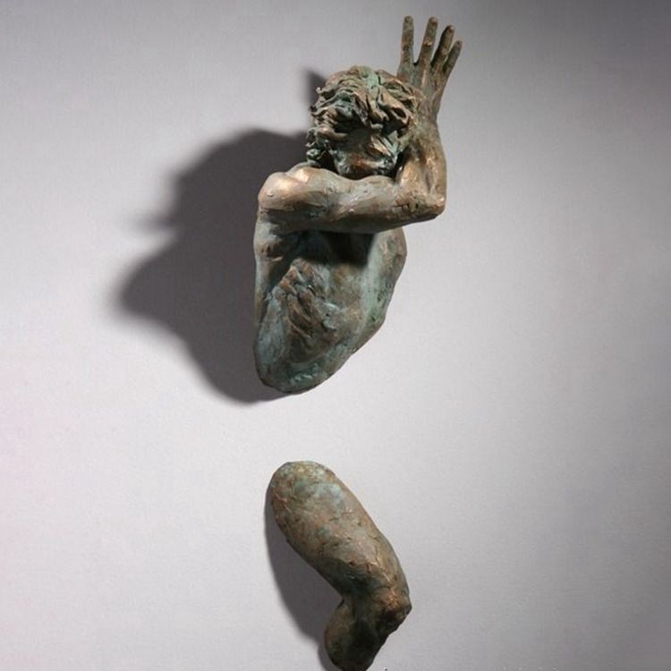 Bronze Extra Moenia wall sculpture from Matteo Pugliese