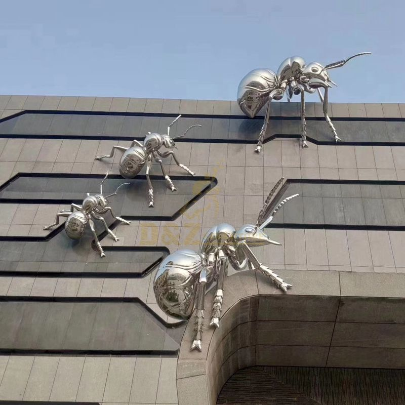 Stainless Steel Animal Ant Sculpture