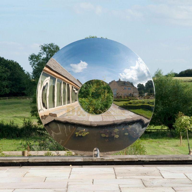 Stainless Steel Outdoor Mirror Sculpture