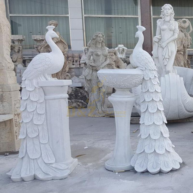 Outdoor Garden Decoration Chinese Stone Peacock For Carving