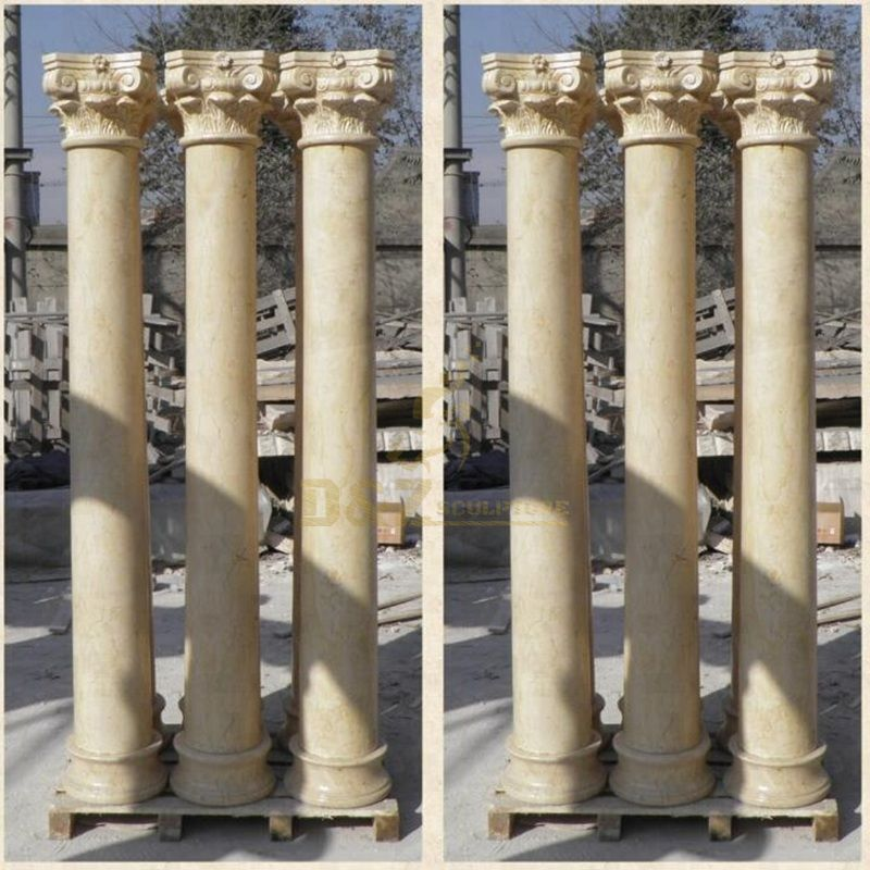 Home Decoration Life Size Marble Stone Column