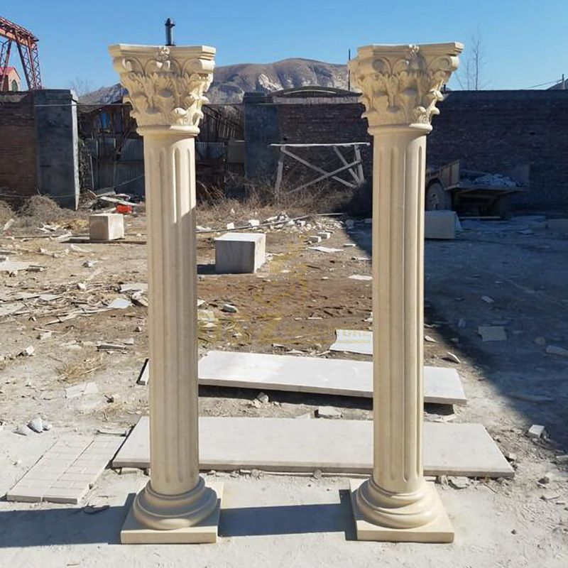 Factory Supply Carved Western Design Roman Column