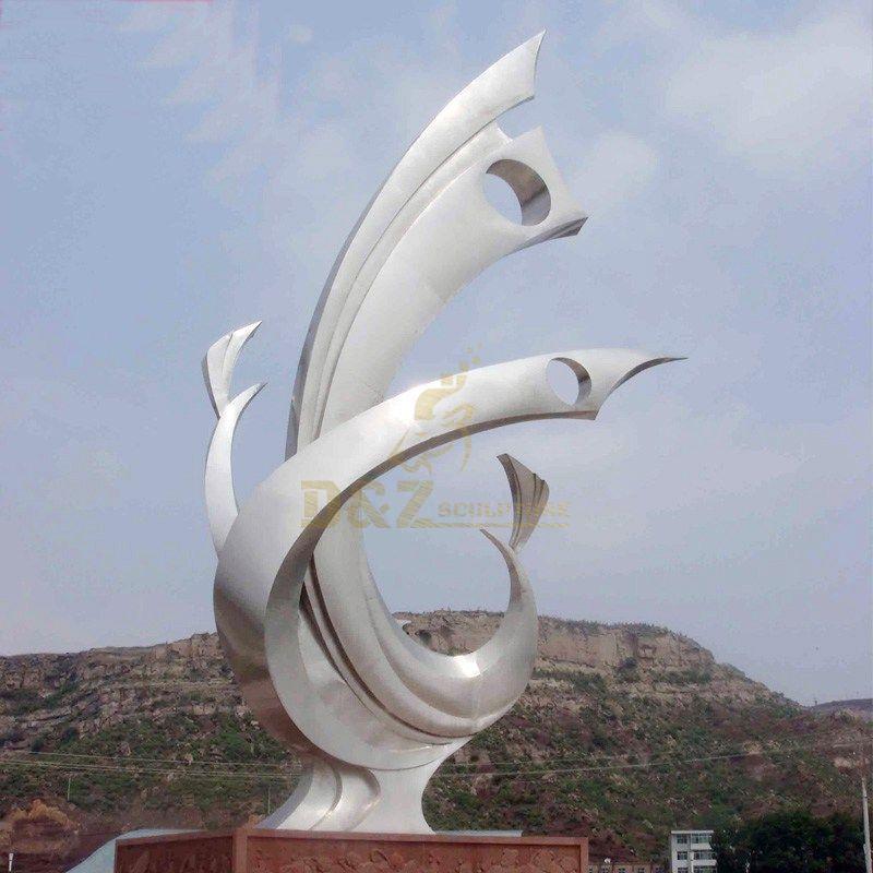Stainless steel metal art sculpture