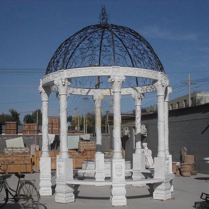 Decorative Stone Wedding Gazebo Outdoor Marble Garden Gazebo
