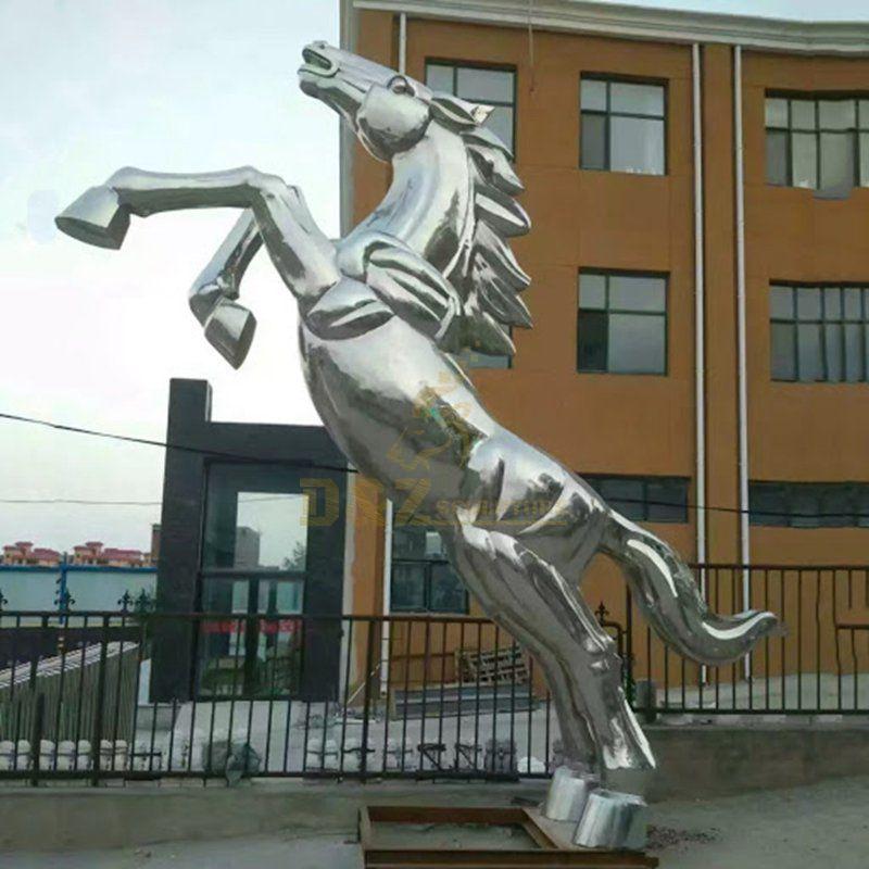 Stainless steel metal sculpture horse sculpture