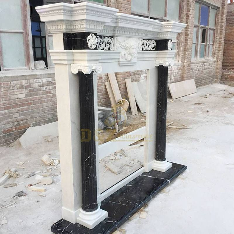 Cast Stone Fireplace Mantel Natural Marble Fireplace Surround