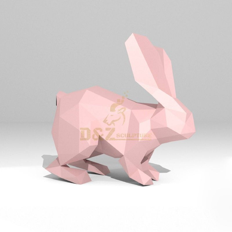 Stainless steel animal rabbits statue