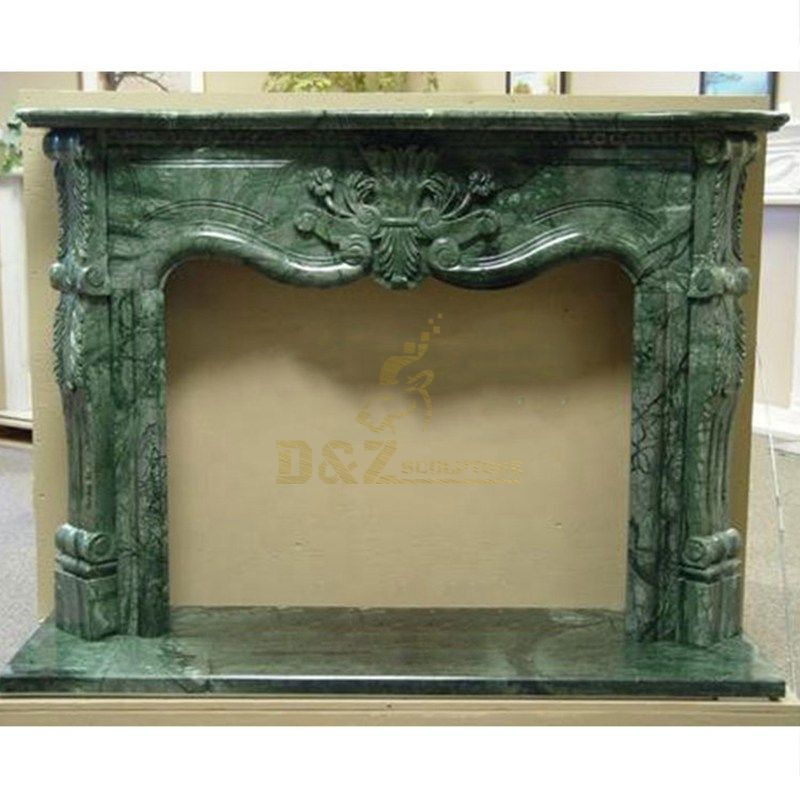 Hand Carved Indoor Free Standing Granite Stone Fancy Fireplace Model