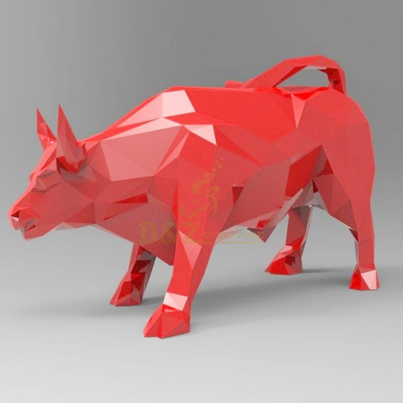 Stainless steel cow bull statue