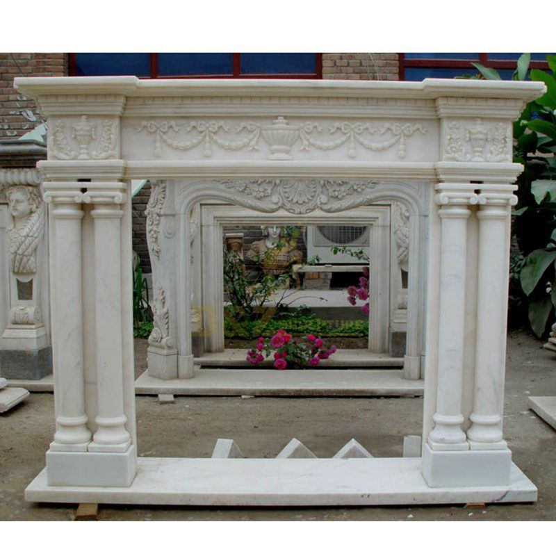 Reliable Vendor Stone Mantel Faux Electric Fireplace Indoor