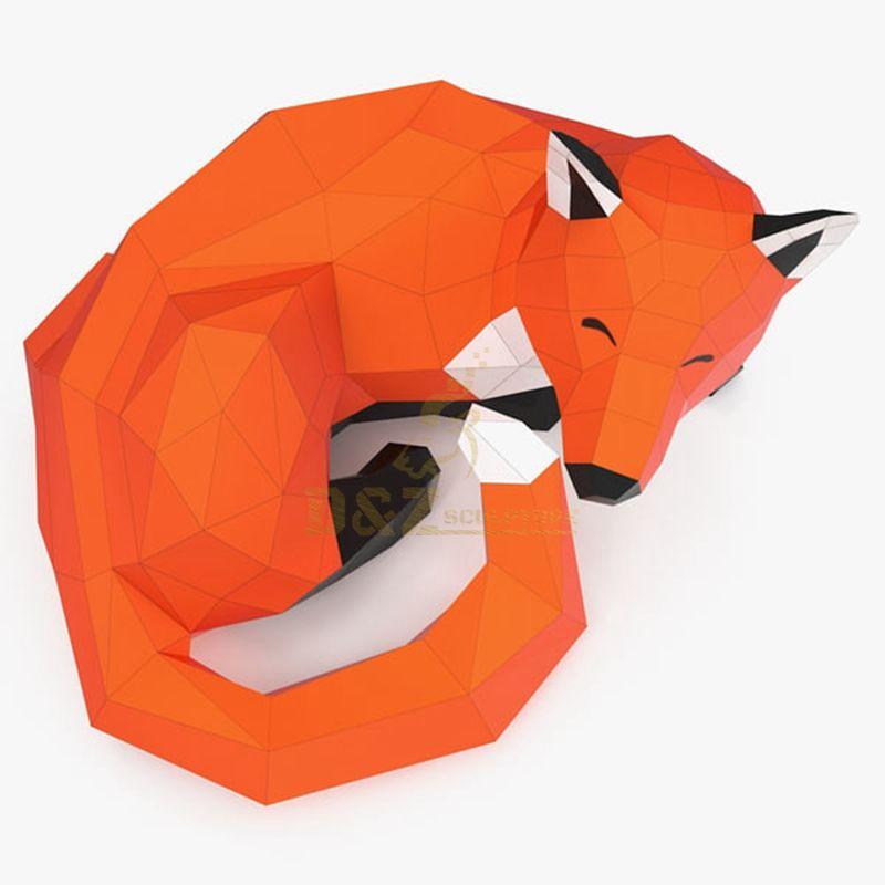 Fox Stainless Steel Animal Sculpture