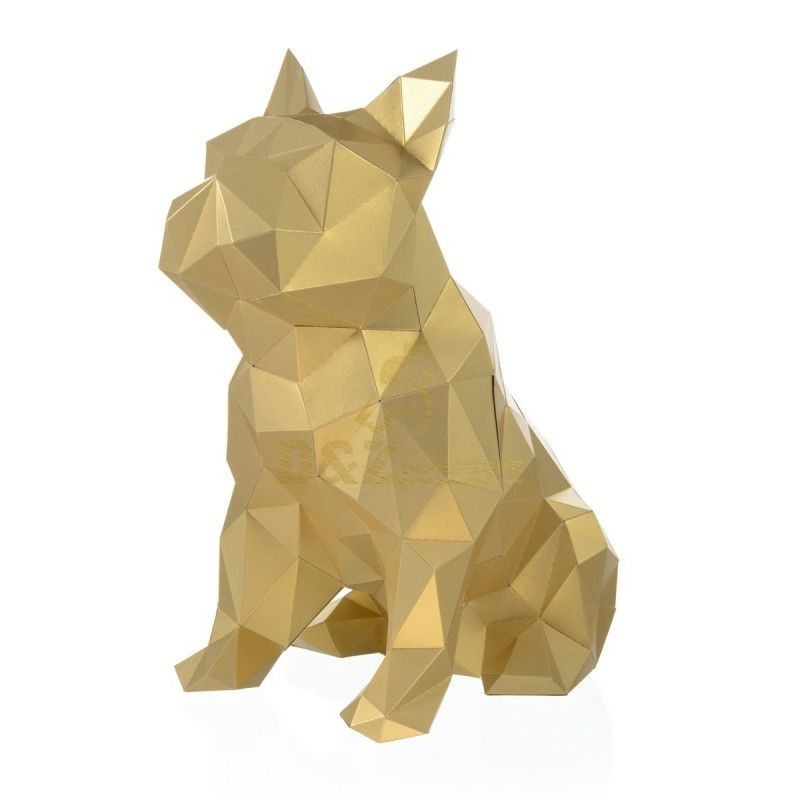 Stainless steel dog sculpture