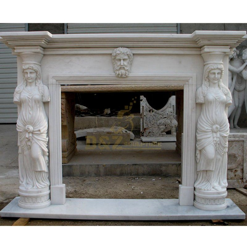 Hot Sale Well Polished Marble Made Marble Stone Fireplace