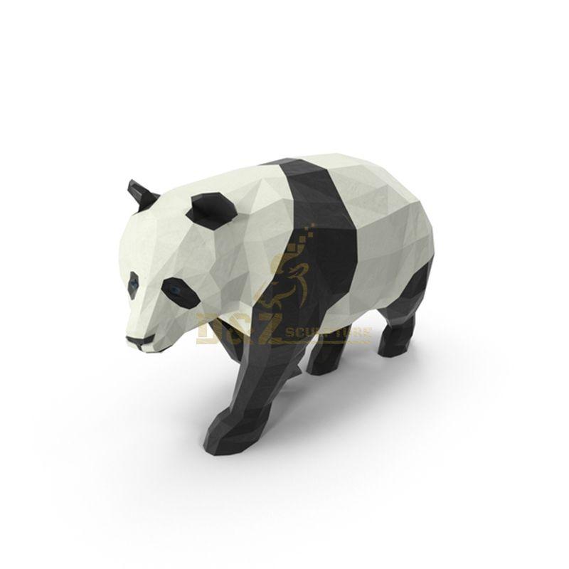 Stainless Steel Panda Sculpture