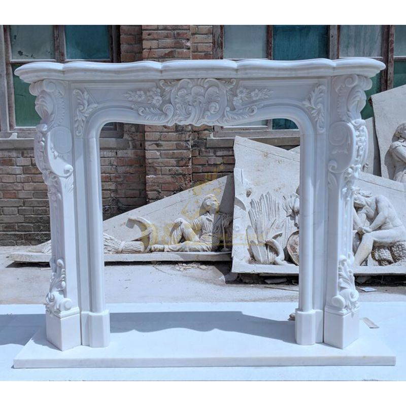 White Carrara Marble Fireplace Fashionable Fireplace Marble Mantle
