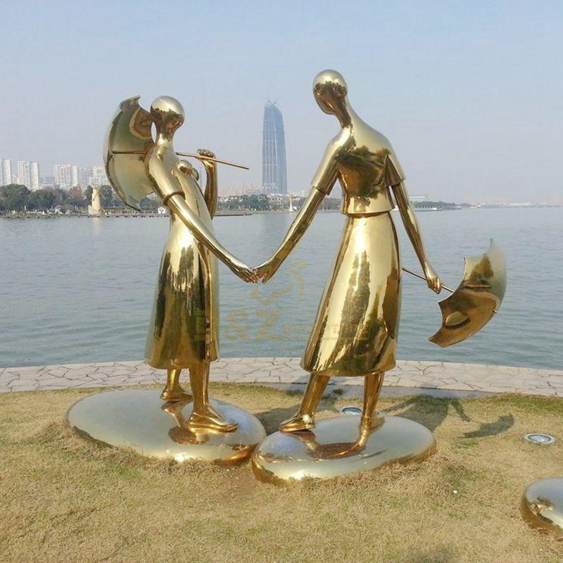 Stainless steel love sculpture