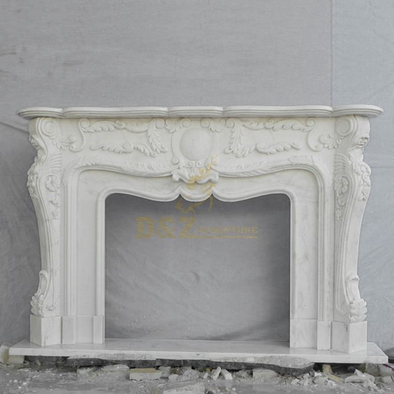 Custom Decorative Marble Stone Fireplace Surround