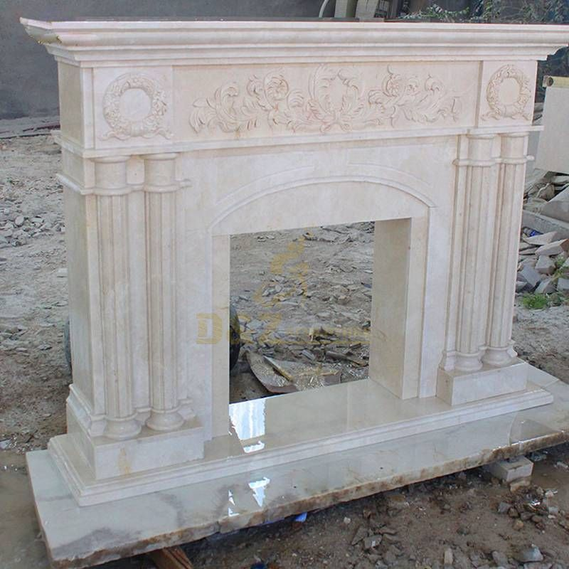 Well Polished Natural Stone Indoor Decoration Usage Modern Fireplace