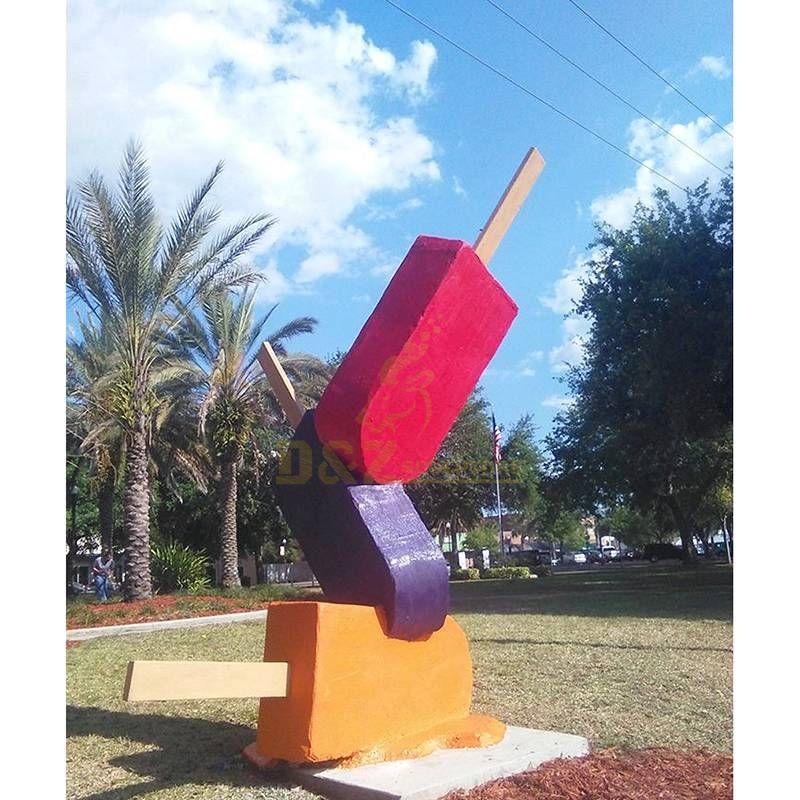 Stainless steel ice cream sculpture