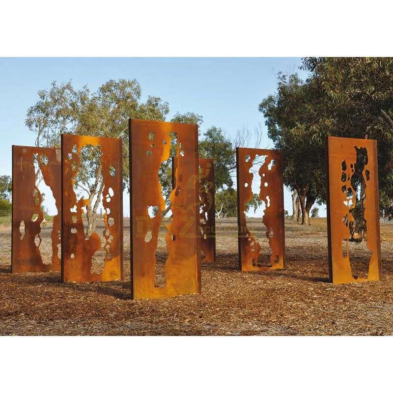 Corten steel screen architectural sculpture