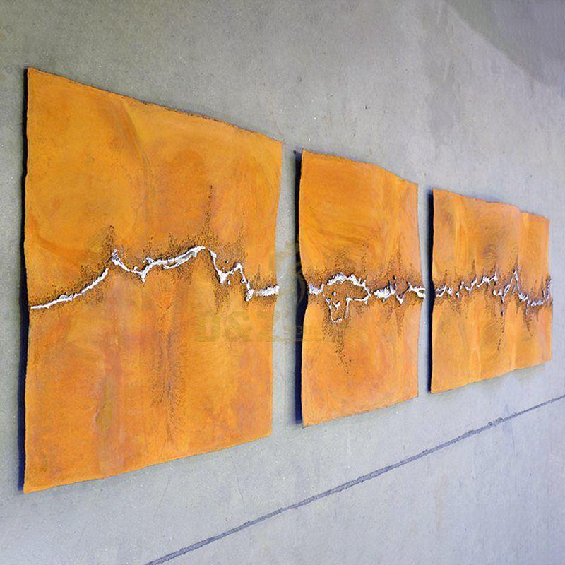 Metal corten steel plate sculpture