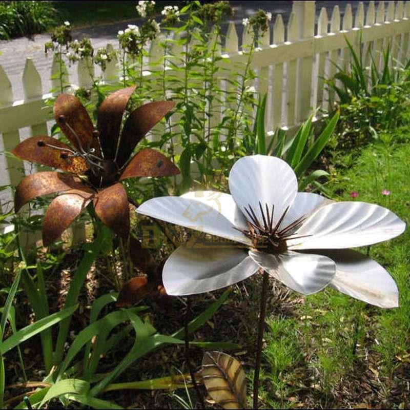 Corten steel flower park garden decorative sculpture