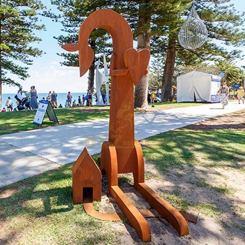 Corten Steel Giraffe Steel Sculpture
