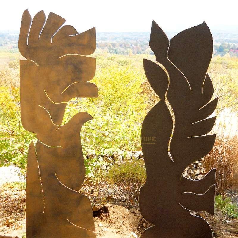 Corten steel tree metal art sculpture
