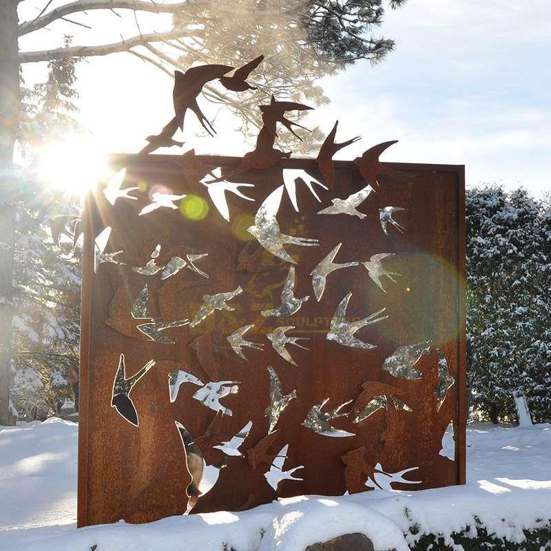 Corten steel screen decorative sculpture