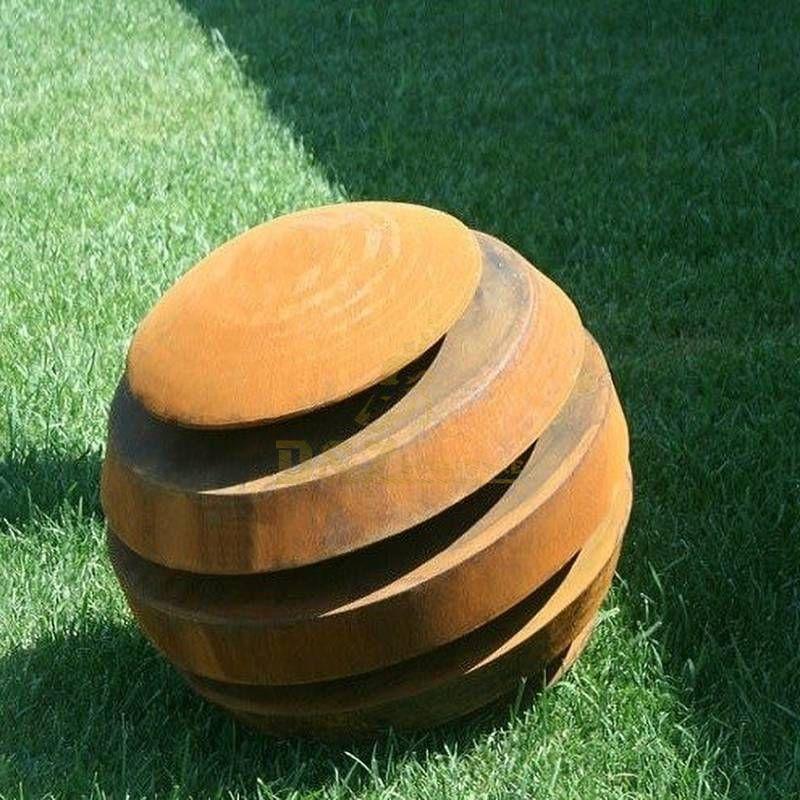 Corten steel ball sculpture