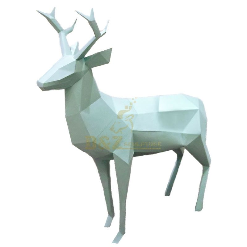 Modern style abstract deer sculpture for garden decor