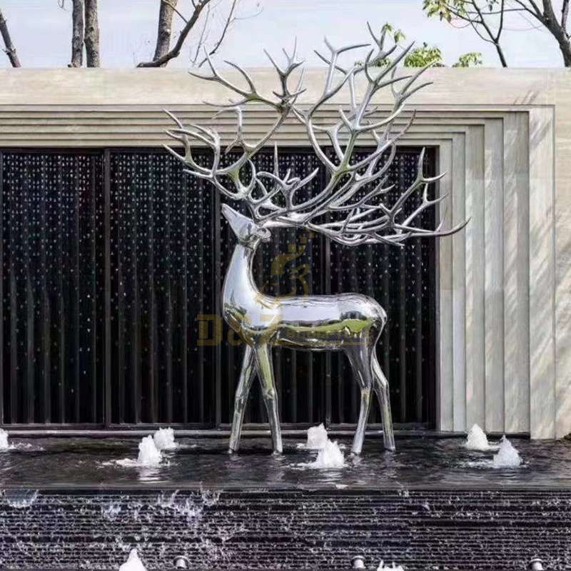 Garden decoration animal stainles steel deer sculpture