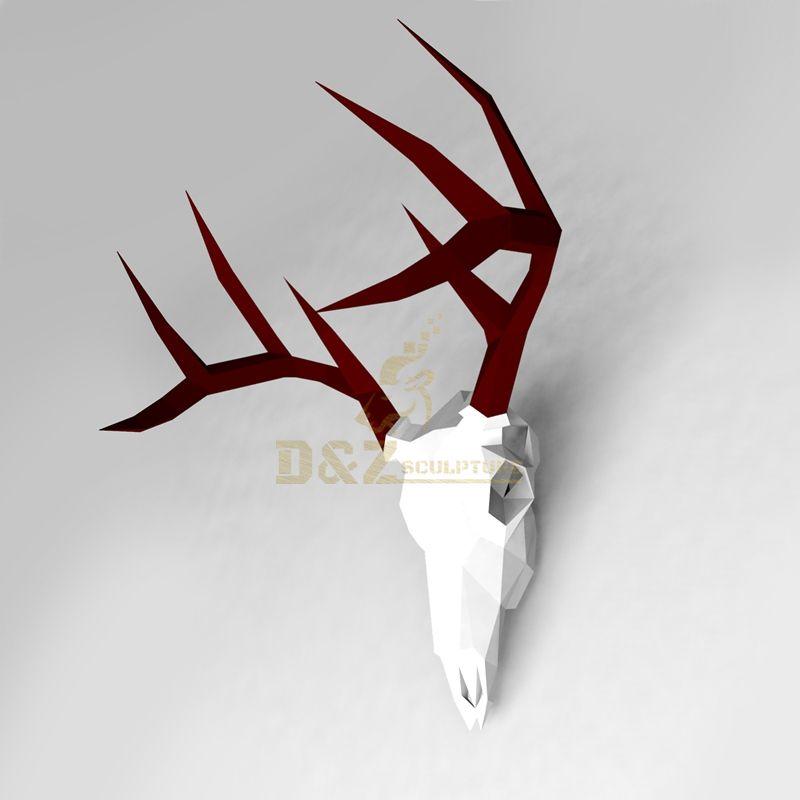 Stainless steel metal animal deer wall art sculpture
