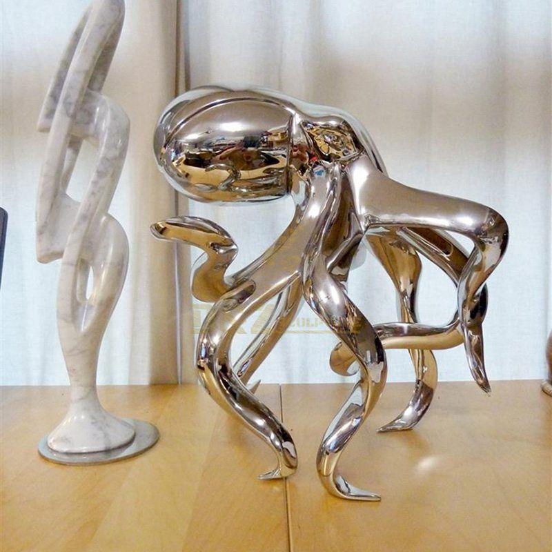 Stainless Steel Octopus Sculpture For Sale