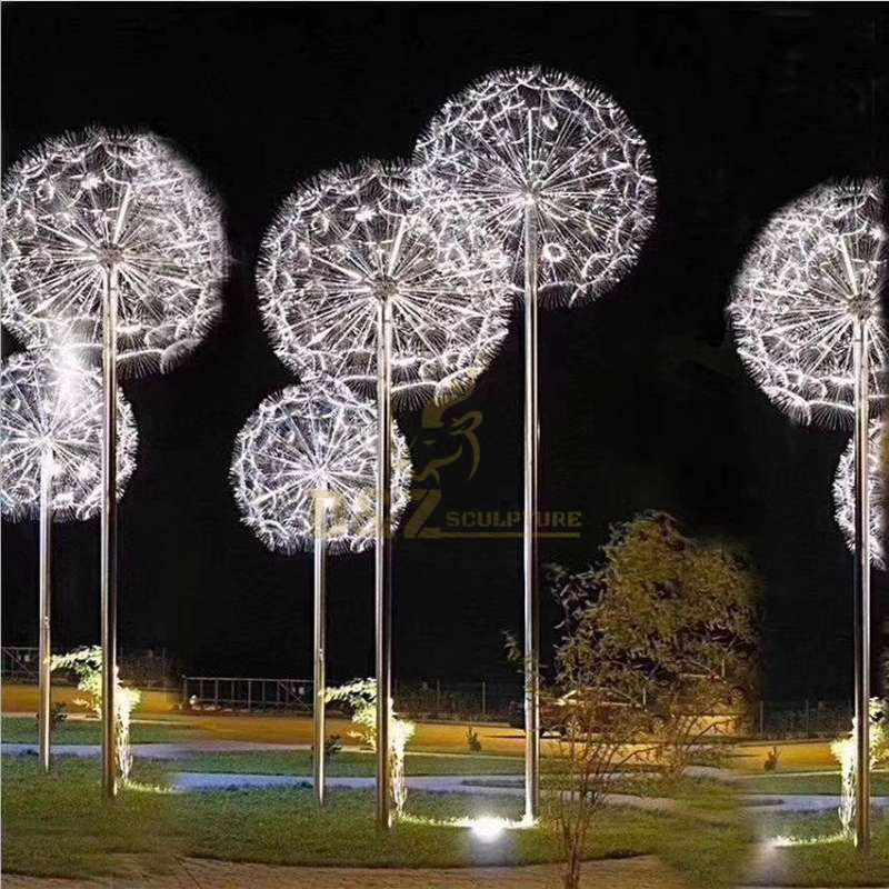 High Quality Metal Stainless Steel Dandelion Sculpture