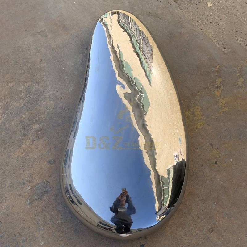 New Mirror Polishing Stainless Steel Rock Sculpture