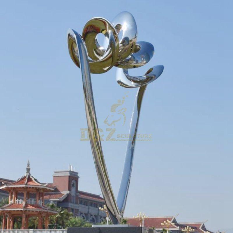 Stainless steel Modern sculpture for park