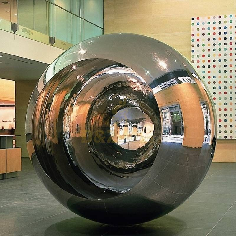 Custom outdoor large eyeball stainless steel metal ball sculpture