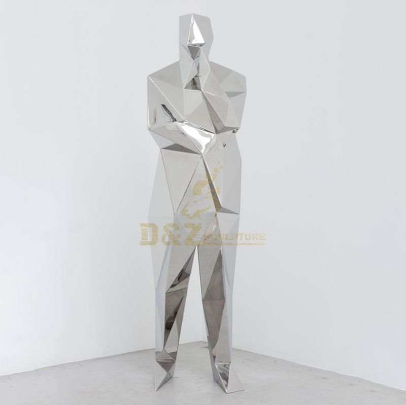 Home decoration stainless steel man statue