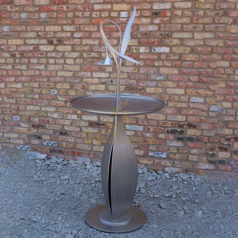 Indoor stainless steel flower metal art table sculpture