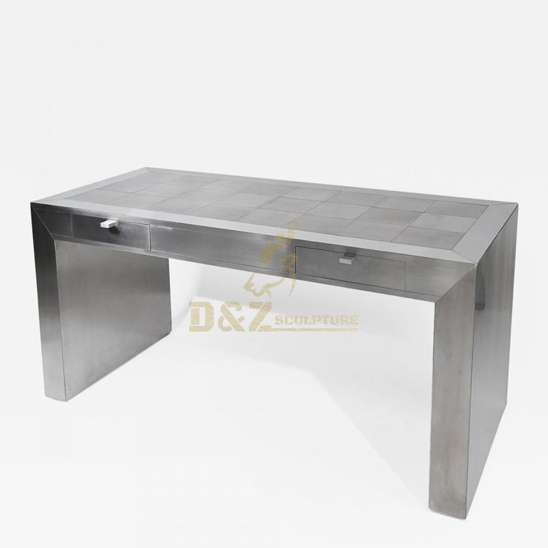 Simple design sculpture of stainless steel home decoration table
