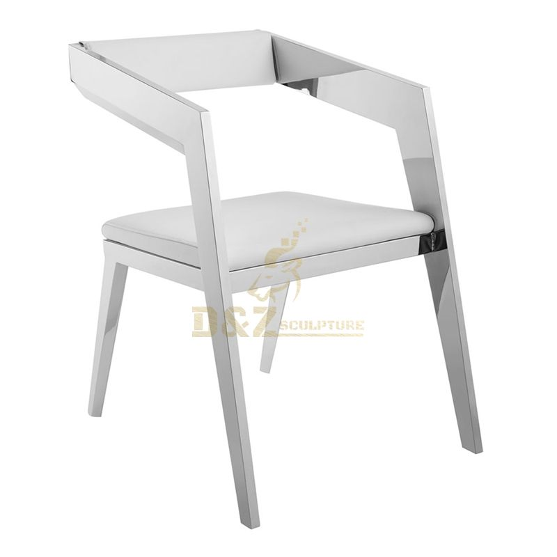 Interior furniture decoration stainless steel metal table sculpture