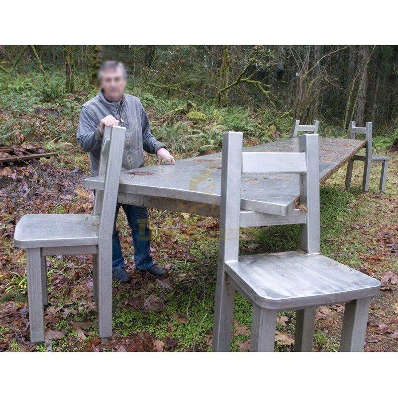 Outdoor large modern stainless steel furniture garden decorative sculpture