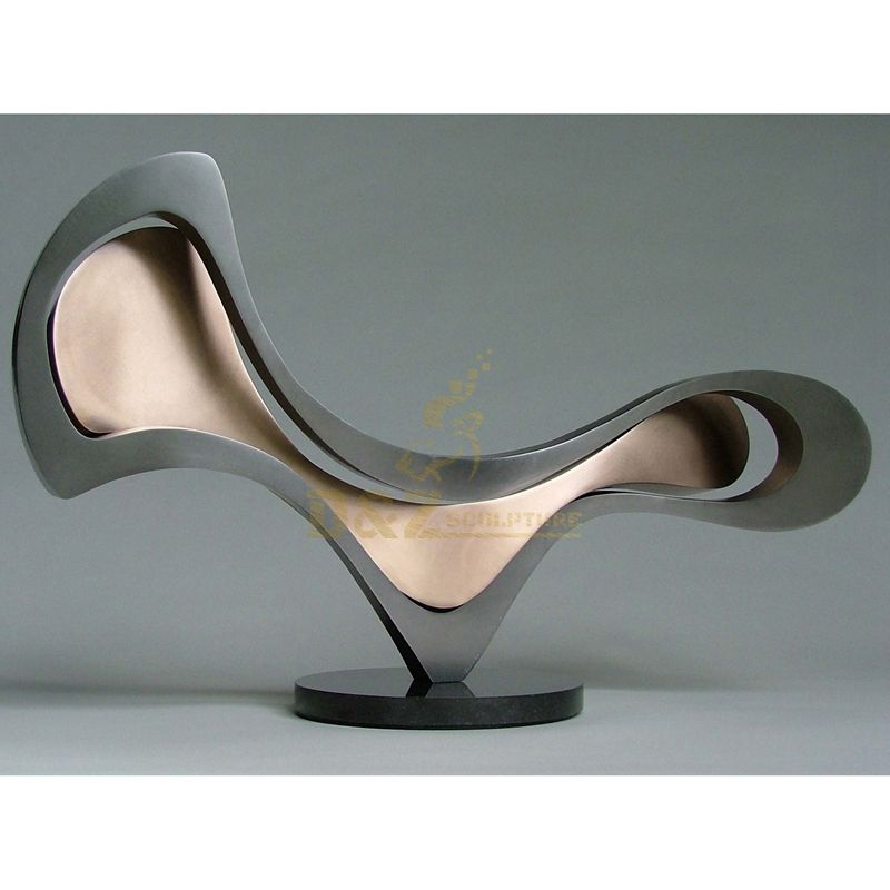 Abstract stainless steel furniture sculpture chair