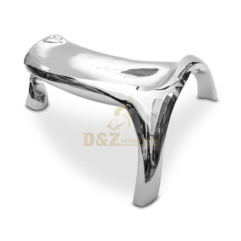 Home Decoration Stainless Steel Chair Sculpture With Mirror Finish