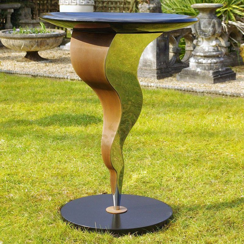 Outdoor stainless steel chair large metal sculptures
