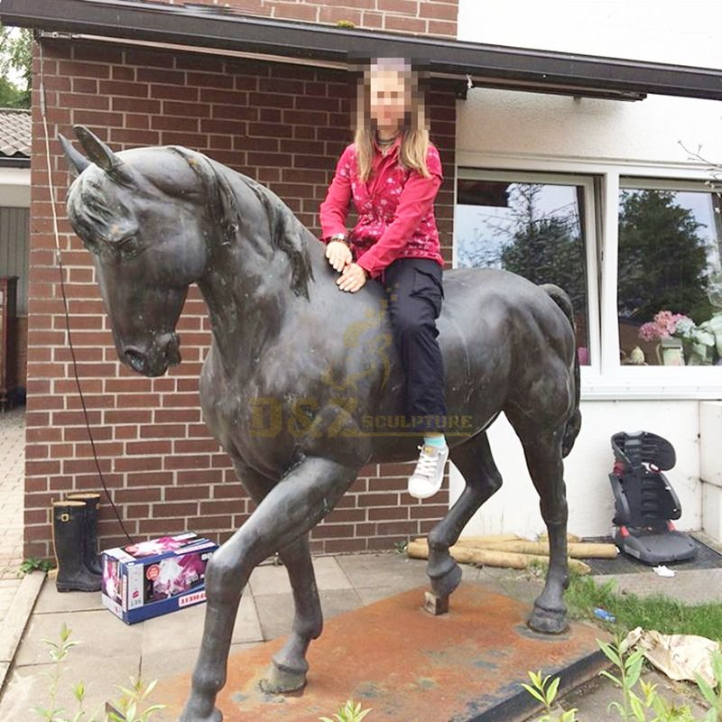 Outside Bronze Horse Sculpture